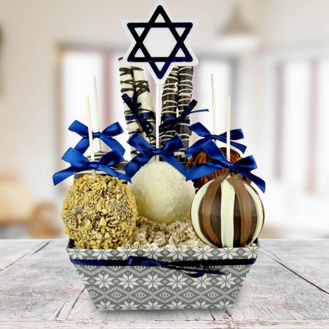 Happy Hanukkah Chocolate Apple Basket