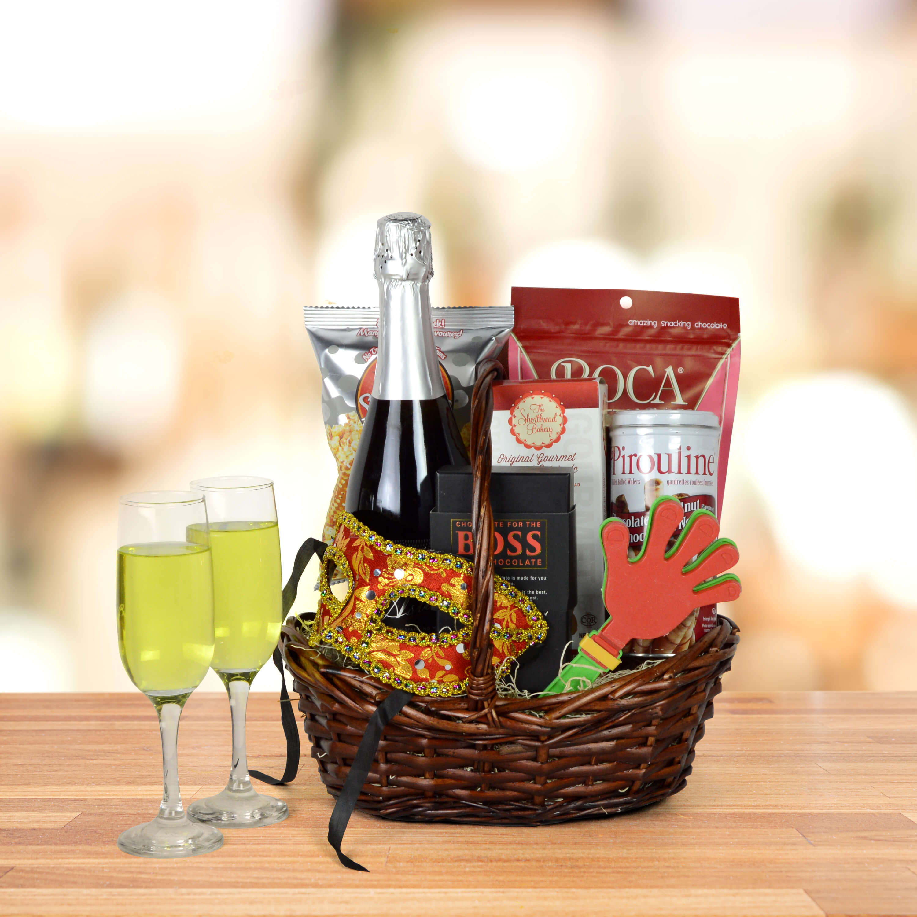 """Purim Some More Champagne"" Gift Basket"