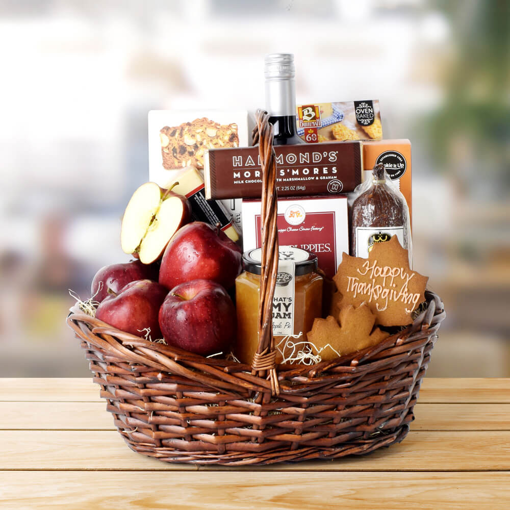 Thanksgiving Fruit & Treat Bounty Basket, Thanksgiving gift baskets, Thanksgiving gift sets, Canada delivery, USA delivery