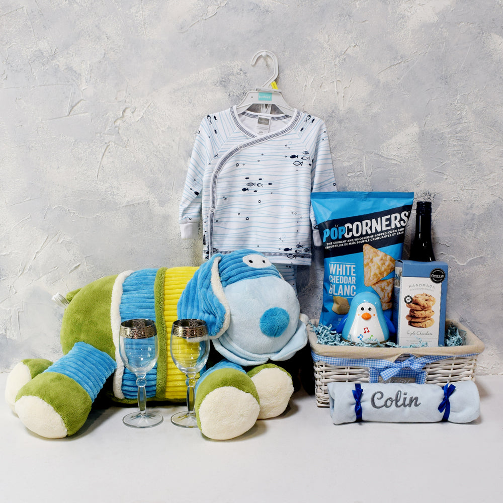 SMART GIFT BASKET FOR THE BABY & PARENTS, baby gift basket, welcome home baby gifts, new parent gifts