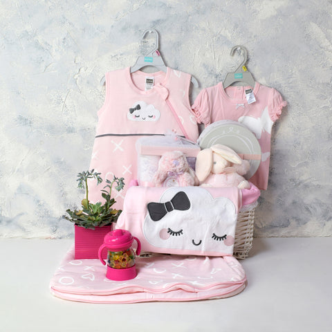 YOUR BABY GIRL GIFT BASKET, baby girl gift hamper, newborns, new parents