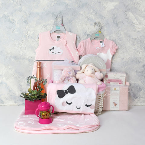 BABY GIRL SWEET DREAMS & CELEBRATION SET, baby girl gift hamper, newborns, new parents