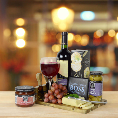 Kosher Wine and Cheese Board