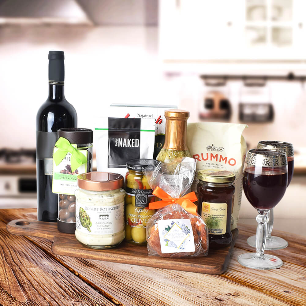 Kosher Food & Wine Gift Set