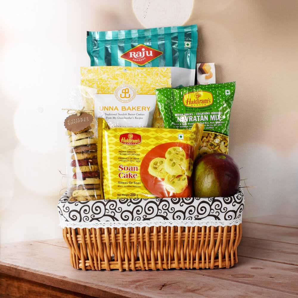 JOYS OF DIWALI GIFT BASKET, Diwali gift basket, Diwali hampers, gourmet gift baskets, corporate Diwali gifts