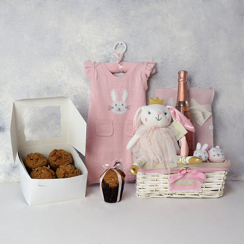BABY ESSENTIALS GIFT BASKET, baby girl gift hamper, newborns, new parents