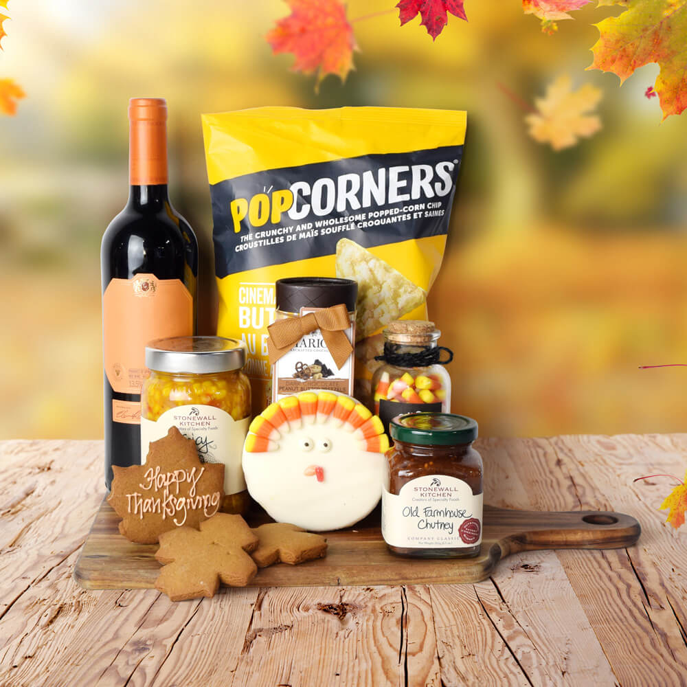 Thanksgiving Wine Tray Gift Set, Wine Gifts, Thanksgiving Gifts, Fall Gifts, Autumn Gifts