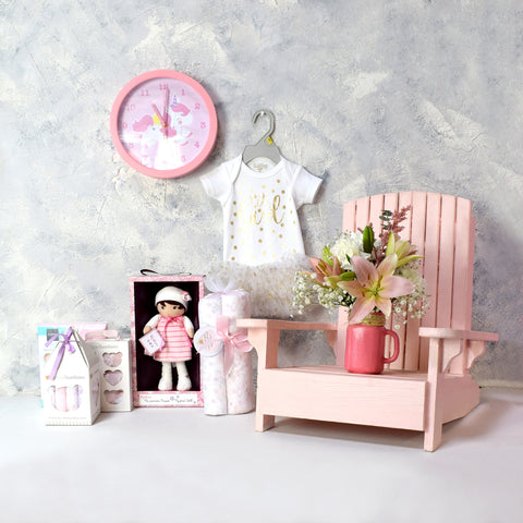 TRENDY BABY GIRL GIFT SET, baby girl gift hamper, newborns, new parents