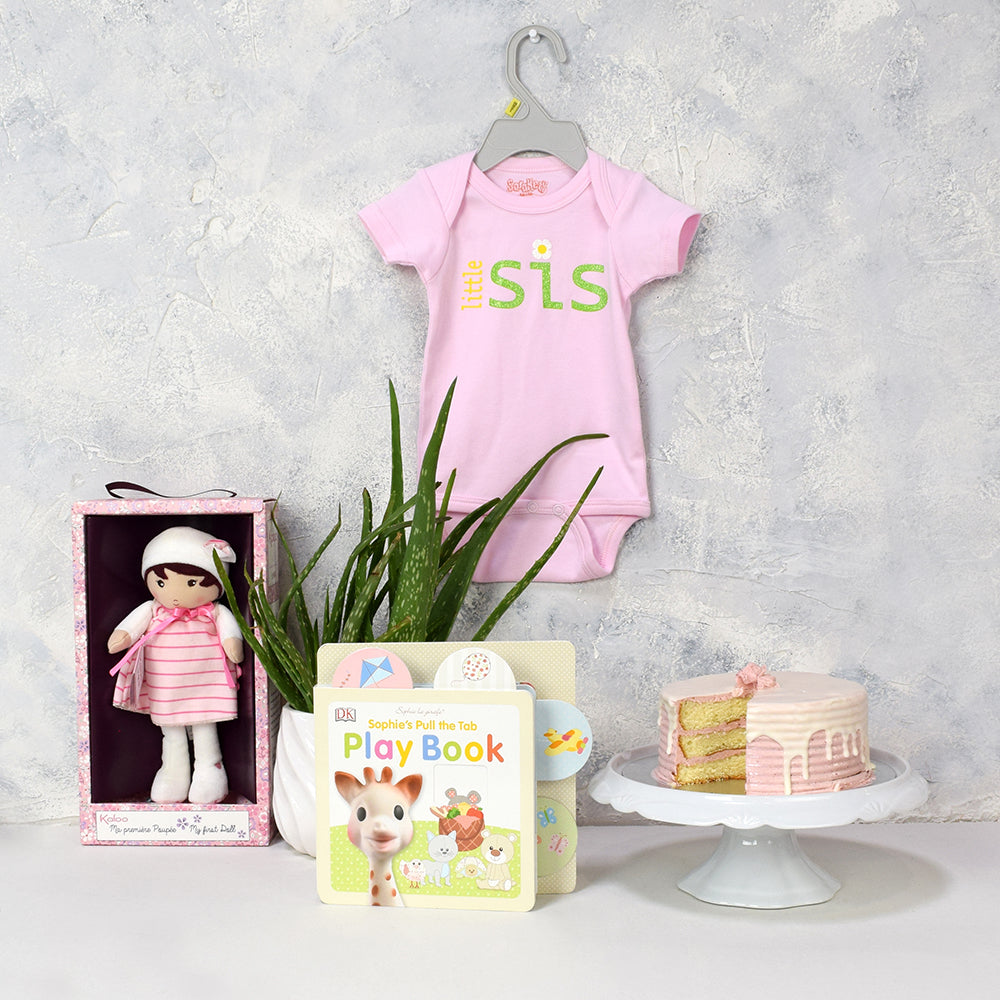 Strawberry Pink Baby Girl Gift Basket