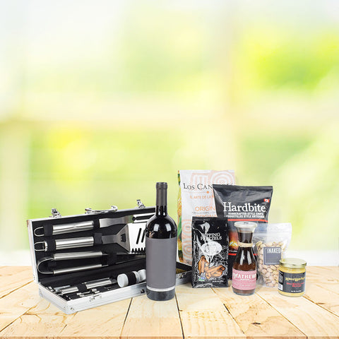 It's Time for a Barbeque Gift Basket with Wine, gift baskets, gourmet gifts, gifts
