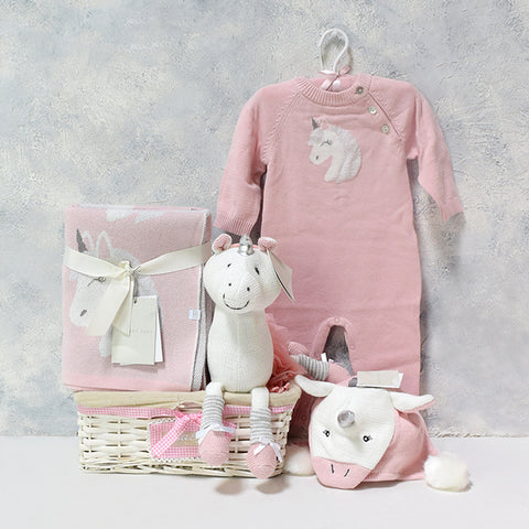 Luna The Unicorn Baby Girl Gift Set, Baby Girl Gift, Baby Girl Gift Basket