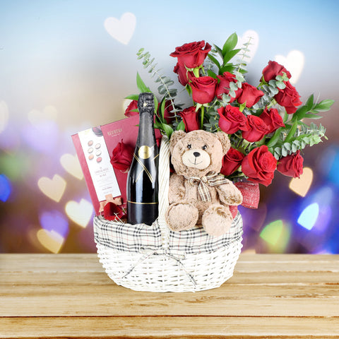 Cuddles & Bubbles Valentine's Day Basket