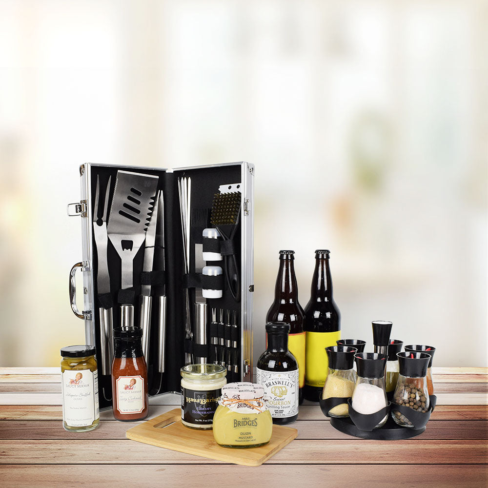 World's Best Barbequing Gift Basket with Beer, gift baskets, gourmet gifts, gifts