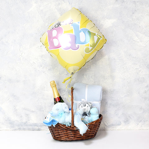 Celebrate A Baby Boy Gift Basket