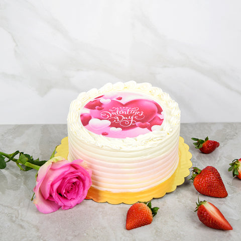 Happy Valentine's Day Vanilla Cake