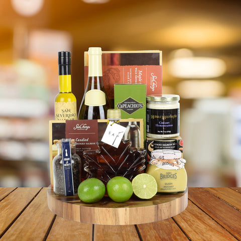 The Ultimate Salmon & Wine Gift Basket