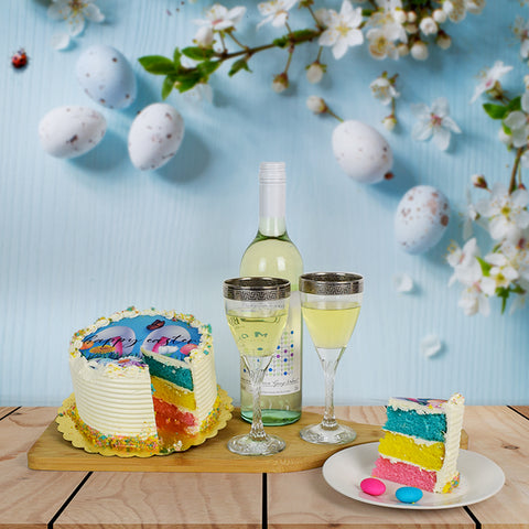 Easter Cake & Wine Basket