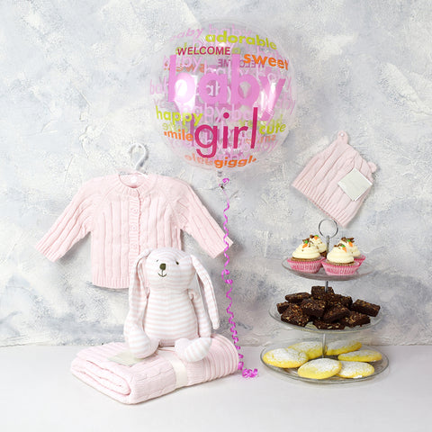 Welcome Sweet Baby Girl Gift Basket