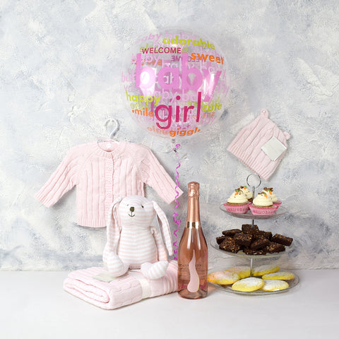 Deluxe Sweet Baby Girl Gift Basket