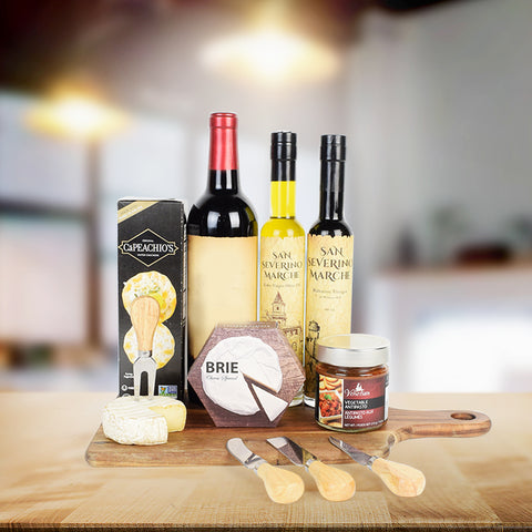 Cheesy Cravings Wine Gift Basket