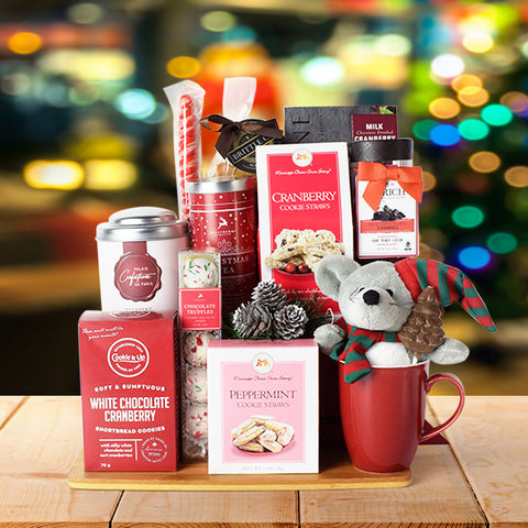Red Sleigh Gift Basket