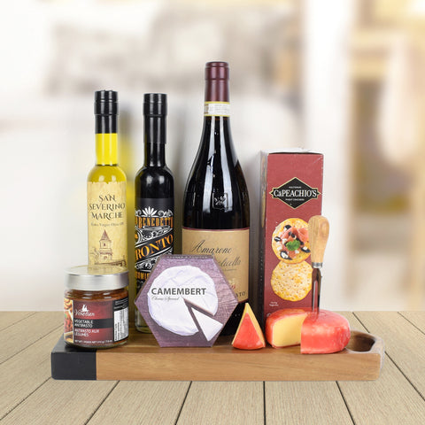 Rich Comforts Gift Board, wine gift baskets, gourmet gift baskets, gift baskets, gourmet gifts
