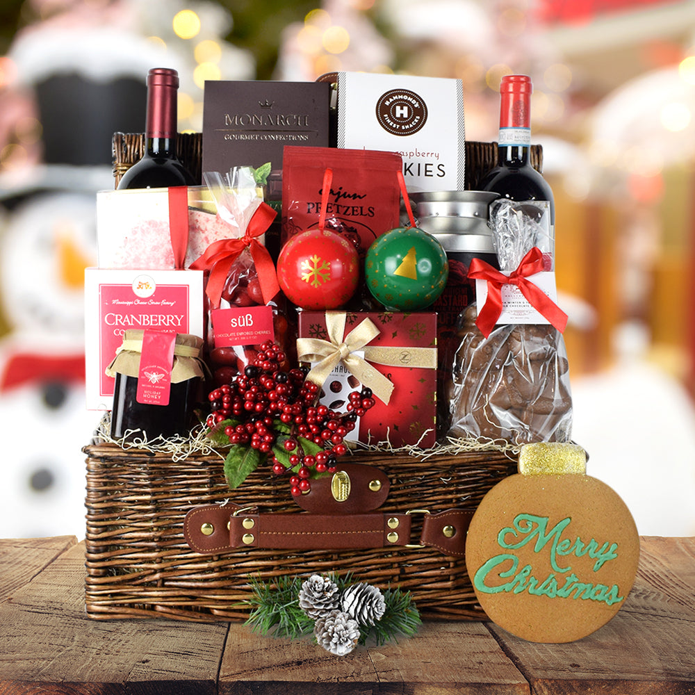 Decadent Christmas Treats & Wine Set