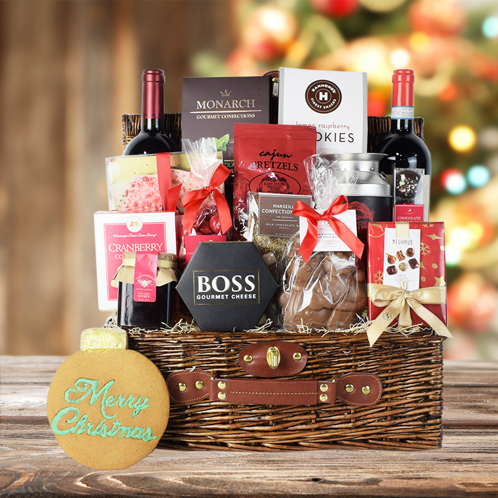 Wine & Cheese Christmas Gift Set