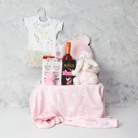 Fun for Mom and Baby Girl Gift Basket