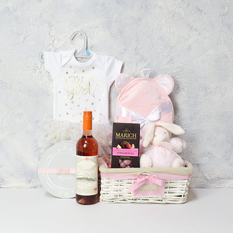 Mom and Baby Girl Gift Basket