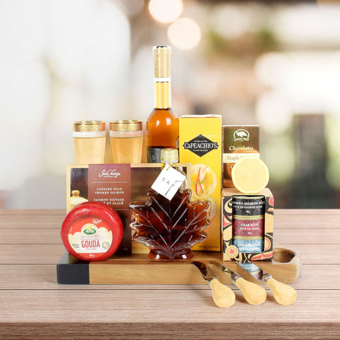 Maple, Cheese & Wine Gift Set, wine gift baskets, gift baskets, gourmet gifts