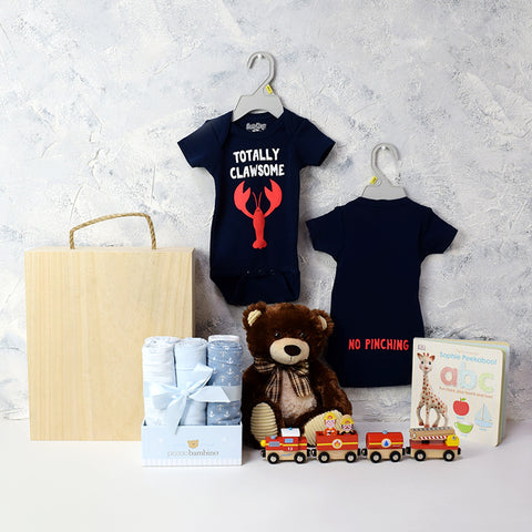Baby Boy Fun Crate, baby gift baskets, baby boy, baby gift, new parent, baby