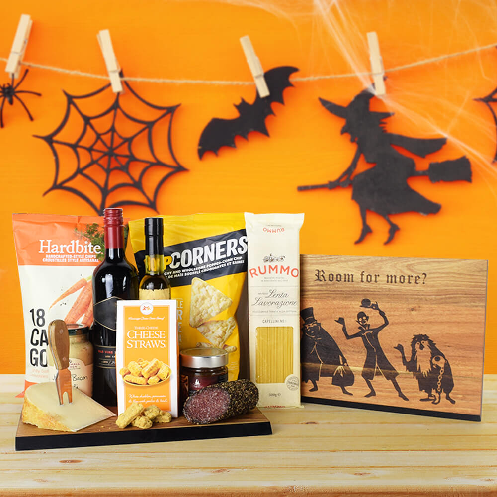Ghoulish Halloween Dinner Party Set, Wine Gift Set, Halloween Gift Set