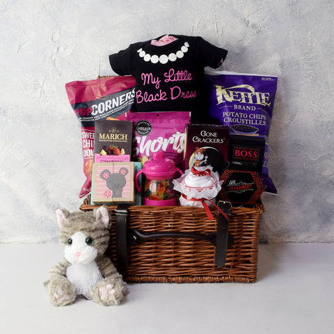 CHARMING GIFT BASKET FOR THE WEE GIRL