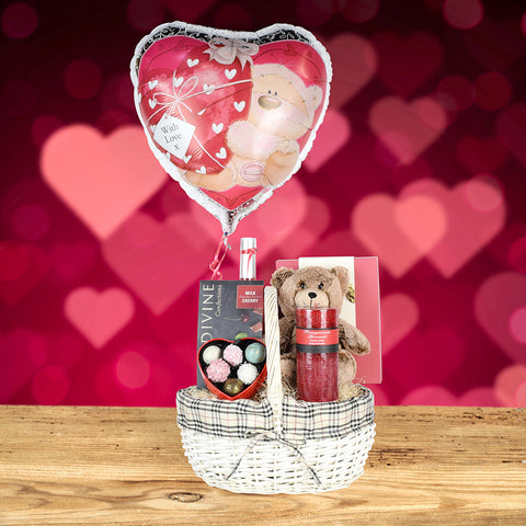 Sent With Love Valentine's Day Basket