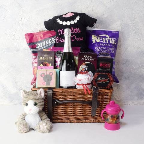 RAISE A TOAST TO THE BABY GIRL GIFT BASKET