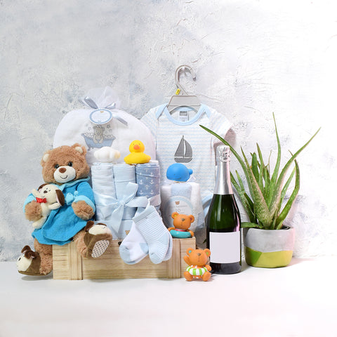 Bubbly Baby Boy Bath Time Gift Basket
