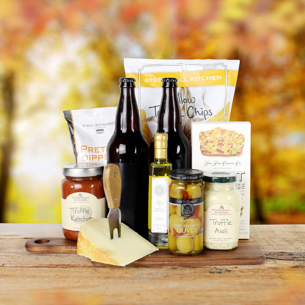 The Thanksgiving Beer & Snack Platter, Thanksgiving Gift Set, Autumn Gifts, Fall Gifts
