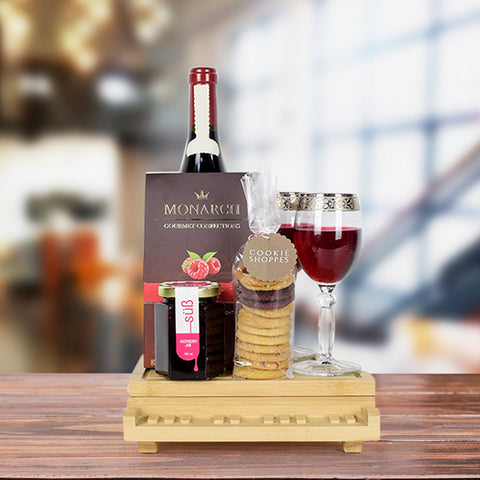 Raspberry & Cocoa Delight Wine Gift Basket