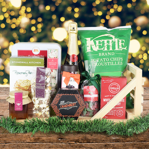 Holiday Sleigh Champagne & Treats Basket