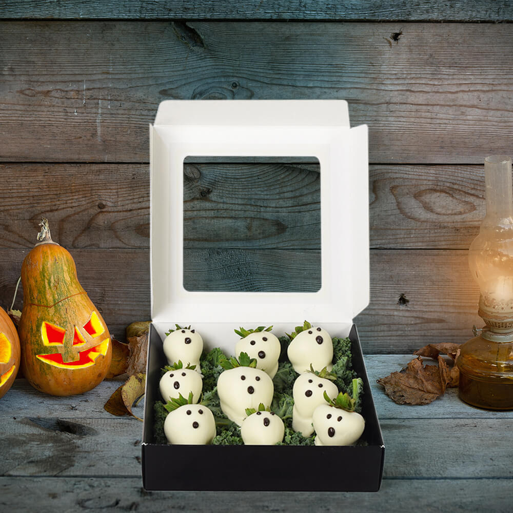 Chocolate Dipped Strawberries Halloween Box