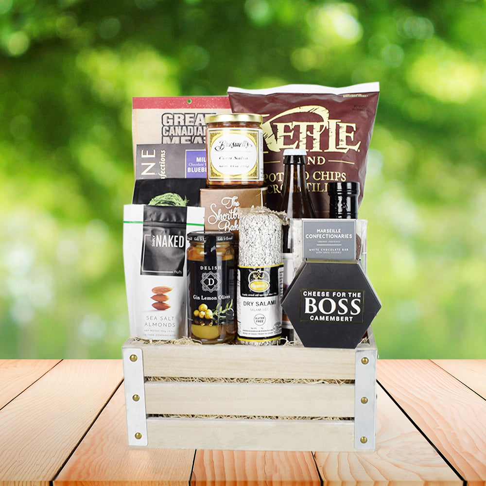 Beer & Snacking Gift Crate