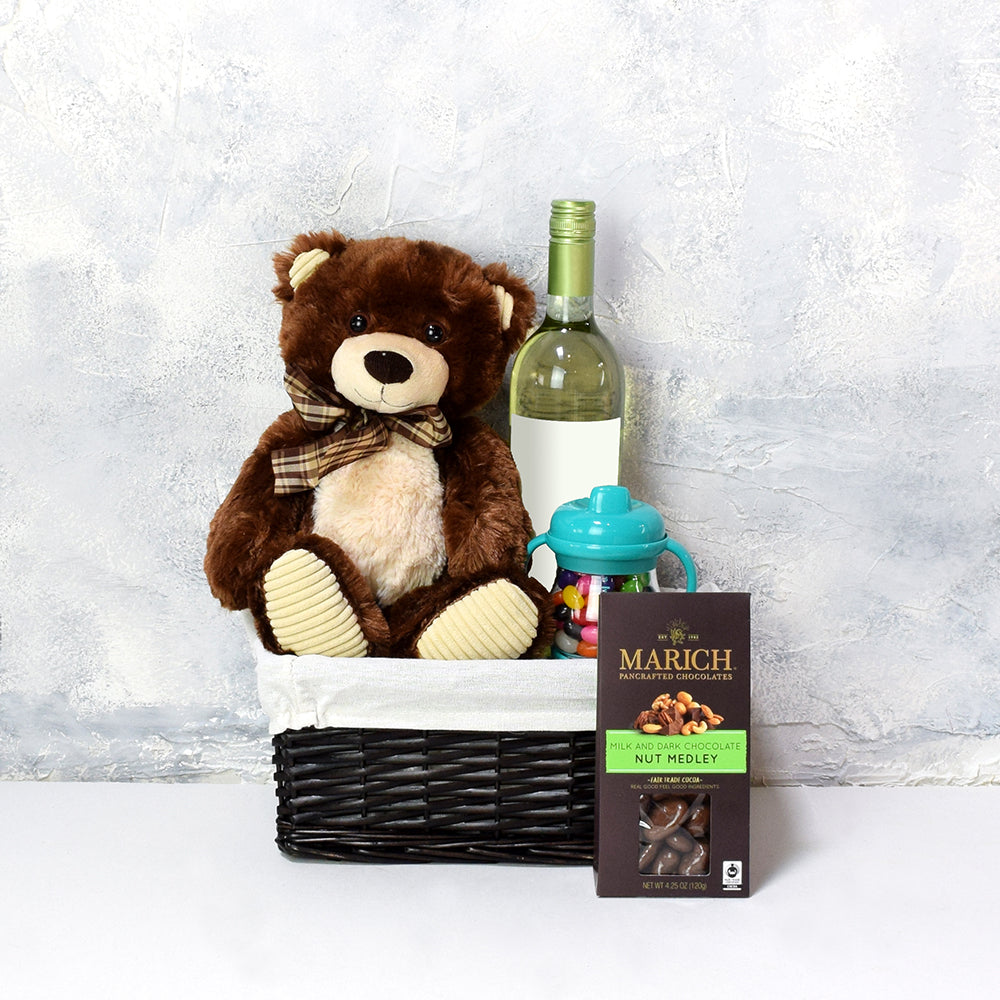Sweet Baby Bear Gift Basket