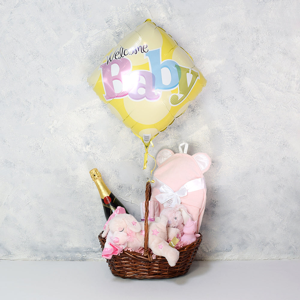 Unicorn Love Baby Gift Basket with Champagne