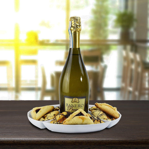 Hamantaschen Cookies & Champagne Purim Gift Basket