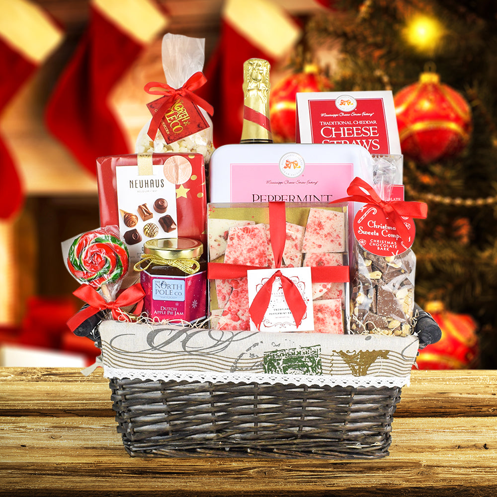 Bistro de Paris Champagne Gift Basket, wine gift baskets, Christmas gift baskets