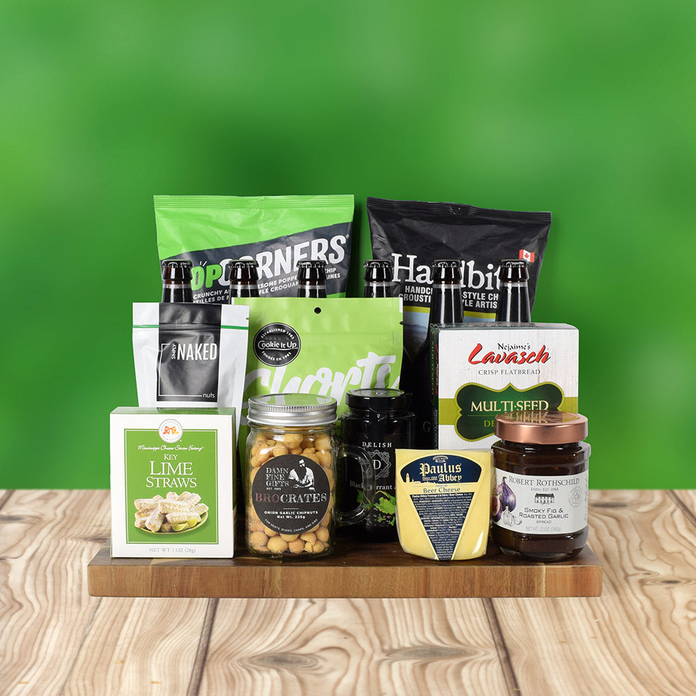 St. Patrick's Day Beer & Snacks Gift Basket