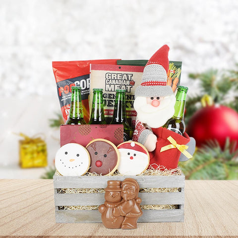 Holiday Hops Beer & Treats Crate, beer gift baskets, gourmet gifts, gifts