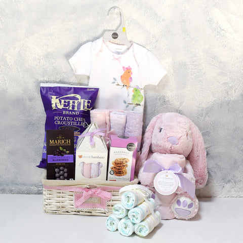 WELCOME TO PARENTHOOD GIFT BASKET, baby girl gift basket, welcome home baby gifts, new parent gifts