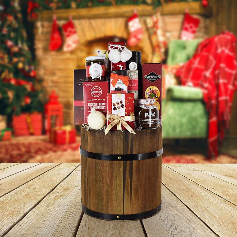 Rustic Holiday Gift Basket, gourmet gift baskets, Christmas gift baskets